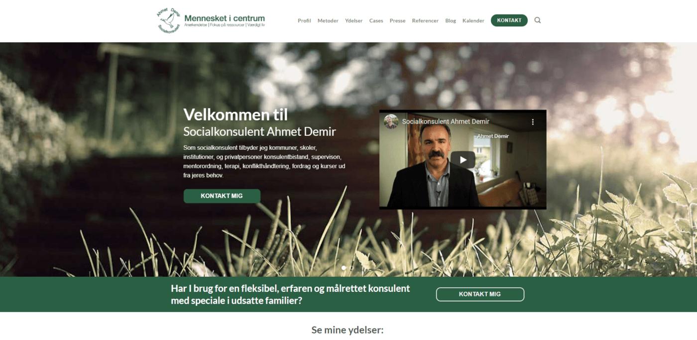 Ahmet Demir hjemmeside