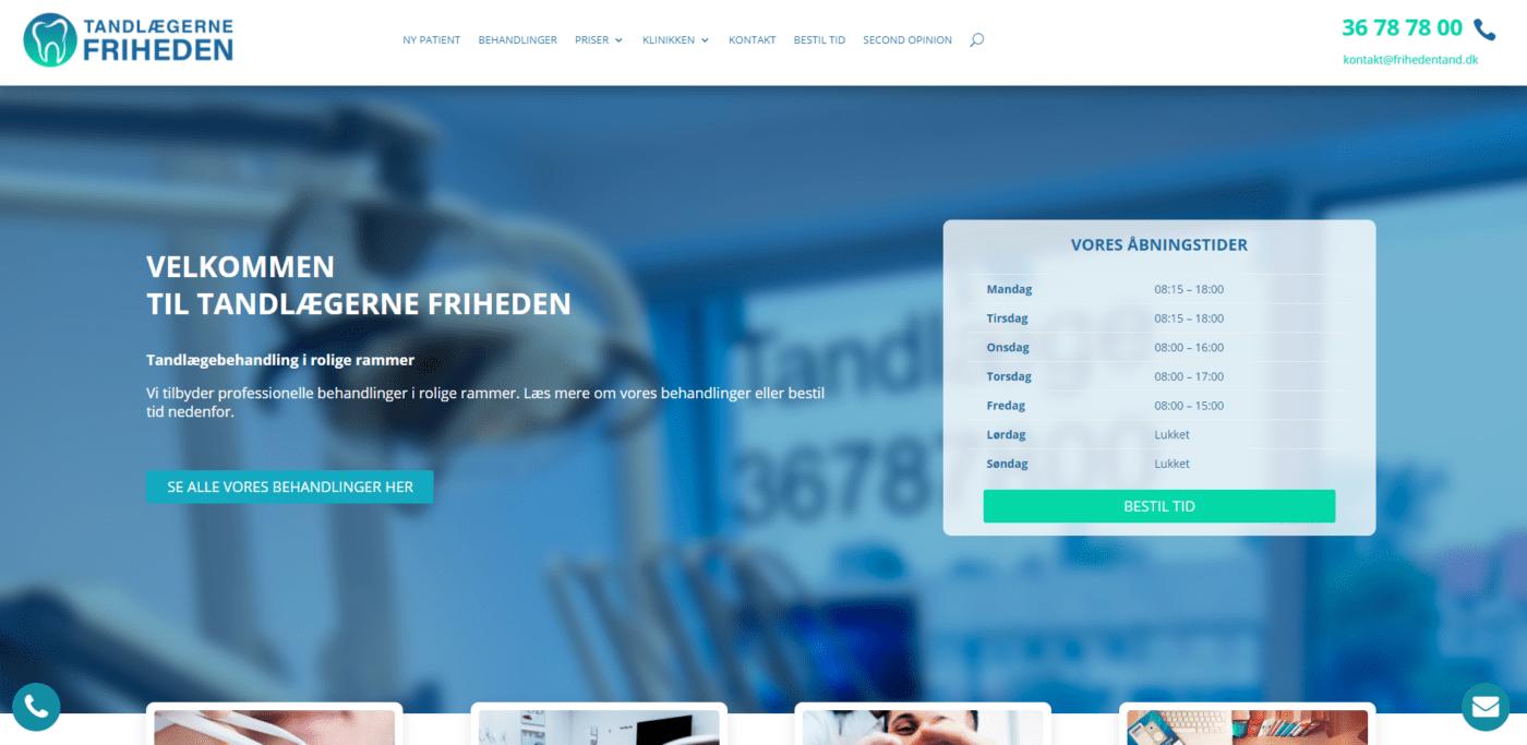 Tandlægerne friheden hjemmeside